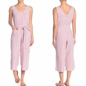BeachLunchLounge Linen Blend Jumpsuit, Small NWT